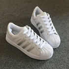 Mens Women's Fashion Leather Casual Lace Up Sneakers Trainer Shoes Superstar
