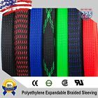 ALL SIZES & COLORS 5' FT - 100 Feet Expandable Cable Sleeving Braided Tubing LOT