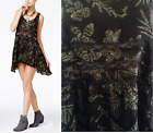 FREE PEOPLE Sz SMALL Lace and Voile Trapeze Slip Dress MIDNIGHT C New Tags blw