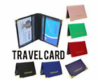 New Leather Oyster Travel Card Bus Pass Holder Wallet Rail Card Case
