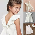 Toddler Kids Baby Girls Lace Dress Princess Party Pageant Wedding Sundress 2-8T