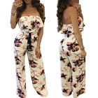 Womens Casual Sleeveless Off Shoulder Summer Girls Strap Loose Jumpsuit Playsuit