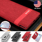 Samsung Galaxy S10 Plus S9 Note 9 8 Slim Shockproof Card Wallet Case Stand Cover