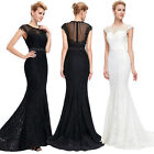 Lace MERMAID Evening Prom Dress Gowns Cocktail Party Bridesmaid Wedding Dresses
