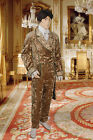 Elegant Baroque Renaissance Jacket Handmade from Crushed Velvet with Trim