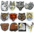 New Embroidered Applique Iron On Patch DIY Sew on Iron On Wolf Tiger Bear Patch