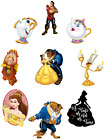 BEAUTY AND THE BEAST BELLE CHARACTERS DISNEY WALL STICKER DECAL lot BPS
