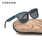 VOBOOM New Retro Skateboard Wood Polarized Sunglasses Vintage Mirrored Eyewear
