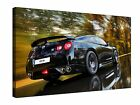 Black Nissan Gtr R35 Gallery Giclee Canvas Wall Art +More sizes