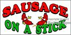 (CHOOSE YOUR SIZE) Sausage on a Stick DECAL Food Truck Vinyl Sign Concession