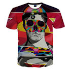 Summer Men Oil Painting 3D Print Funny T-Shirt Casual Superman Graphic Tee Tops