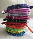 Bulk BRAIDED USB Charger Cable Data Sync Cord For iPhone 5, 6, 7 Plus lot