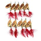 New Feather Fishing Lure Spinner Spinnerbait Metal Hard Fishing Baits 10 colors