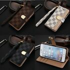 Luxury Deluxe Leather Wallet Flip Case Cover For Apple iPhone 5 5S 6 6s 7 plus