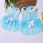 Puppy Summer Dress Pet Lace Vest Doggy Flower Printed Skirt Cat Clothes Apparels