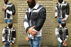 SPECIAL WHITE HIT SCHLAGER JeansJacke Stone Washed Used Look Biker Rocker Jacke