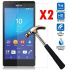 US 2Pcs 9H Real Tempered Glass Film Guard Cover Screen Protector For Sony Phones