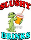 Slushy Drinks DECAL (Choose Your Size) Gecko Food Truck Sign Concession