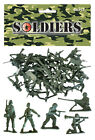 NEW BAG OF 50 GREEN PLASTIC TOY SOLDIERS ARMY COMBAT PLATOON STORY PARTY LOOT