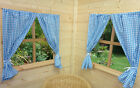 BOYS PLAYHOUSE CURTAINS ~ PLAYHOUSE BUNTING ~ ACCESSORIES ~ BRIGHT BLUE GINGHAM