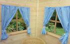 BOYS PLAYHOUSE CURTAINS ~ PLAYHOUSE BUNTING ~ ACCESSORIES ~  BLUE GINGHAM
