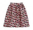 NWT Kate Spade Magnolia Collection Petit Four Cupcake Full Skirt in Black/Pink