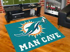 Miami Dolphins Man Cave Area Rug Choose 4 Sizes