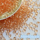 4.5mm Peach Acrylic Diamond Confetti Wedding Party Decoration Table Scatters
