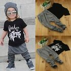 2PCS Toddler Kids Baby Boys Summer T-shirt Tops+Harem Pants Outfits Clothes Set