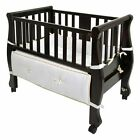 Arms Reach Sleigh Bed Co-Sleeper Bassinet- Espresso