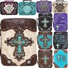 Western Embroidered Scripture Rhinestone Cross Book Bible Cover Messenger Purse $29.95 USD on eBay