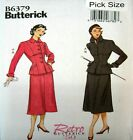 Butterick Sewing Pattern 6379 Retro 50s Ladies Suit Jacket Skirt Pick Size