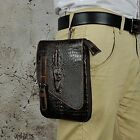 Mens Genuine Leather Waist Fanny Pack Hip Rider Tactical Military Drop Leg Bag