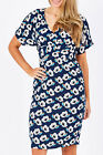 NEW Elise Womens Knee Length Dresses Jill Dress Blue
