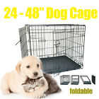 24 / 30 / 36 / 42 / 48 INCH DOG CAT PET CAGE Collapsible Metal Crate With Tray