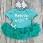 Daddy's Girl Pink tutu romper Glitter Baby girl Daddy's princess Father's Day