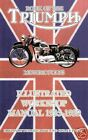 TRIUMPH MOTORCYCLE FACTORY WORKSHOP MANUAL1935-1939 New $36.95 USD