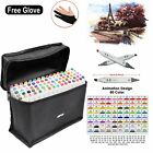 80 Farbe Color Marker Pen for Touch Twin Tip Graphic Art Drawing Broad Fine EU