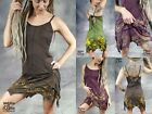 LEAF DRESS Flower of Life Sacred Geometry Pixie Hippy Layered Psytrance Festival