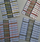 3 PACK LARGE TEA TOWELS CHECKED TERRY COTTON HIGHLY ABSORBANT 4 COLOURS