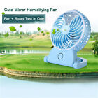 Practical USB Rechargeable Mini Cooling Water Mist Spray Humidifier Fan Portable