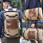 Mens Canvas Outdoor Sports Backpack Laptop Bag Daypack Tactical Travel Duffel