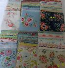 CHARM PACKS- 5 INCH CHOICE OF COLOURS /SIZES 100%  COTTON QUILTING  FABRIC