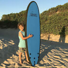 6ft Softboard Surfboard Soft Board Foam Surfboard Learn to Surf GREEN BLUE PINK