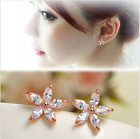 Zircon Star Flower Ear Stud Flower Earrings White Multicolor Flower Earring