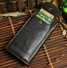 Men Real Leather Cowhide Removable Card Case Organizer Checkbook ID Wallet