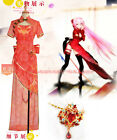 Vocaloid luka Luo Tianyi TDA canary Chinese cheongsam cosplay costume red