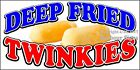(CHOOSE YOUR SIZE) Deep Fried Twinkies DECAL Concession Food Truck Sticker