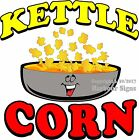 Kettle Corn DECAL (Choose Your Size) Food Truck Sign Restaurant Concession
