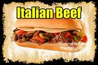DECAL (Choose Your Size) Italian Beef Food  Sticker Sign Restaurant Concession